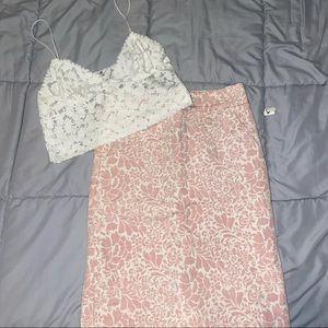 NWT Brocade Pencil Skirt